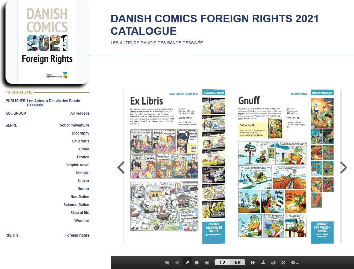 DANISH COMICS Foreign Rights 2021 catalogue - web